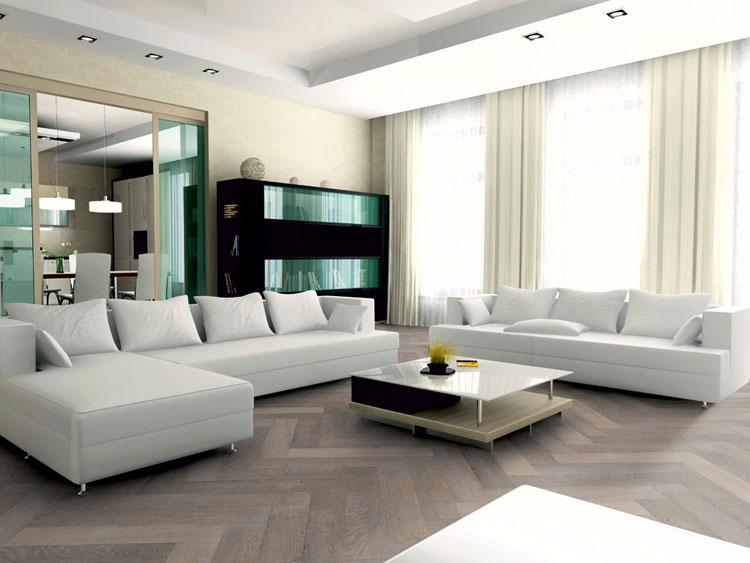 Visgraat parketvloer vergrijsd modern houten vloer Holleman Parket