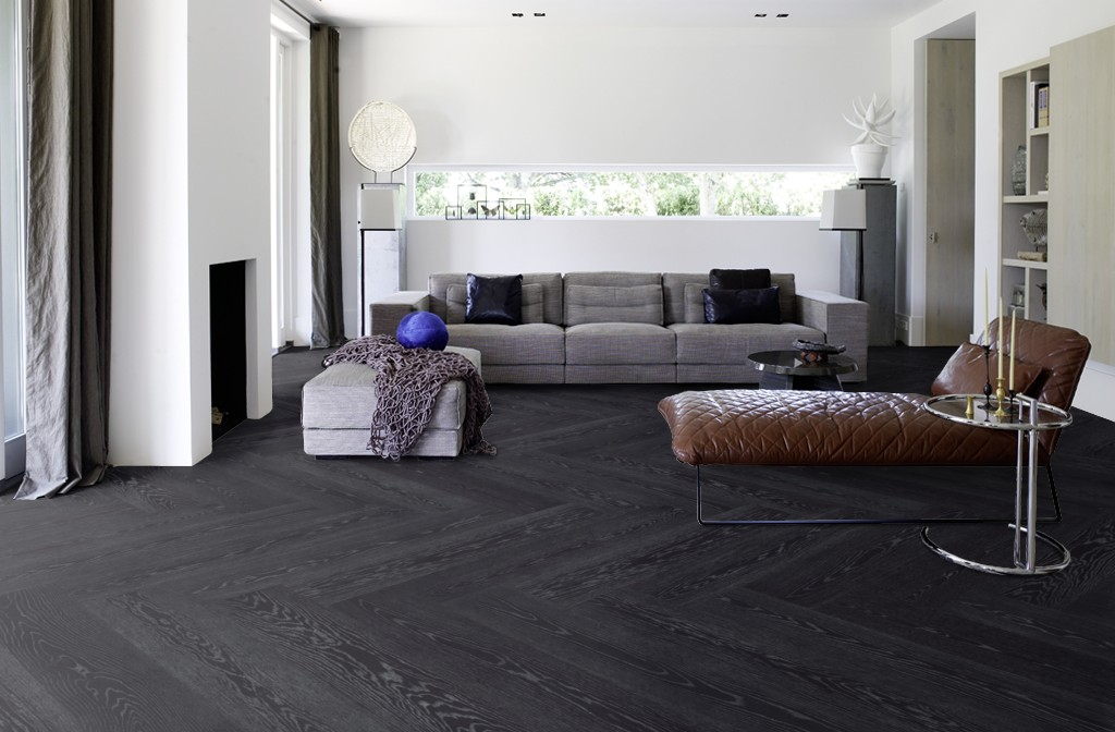 Zwarte houten vloer amazing zwarte vloer inspiratie with zwarte